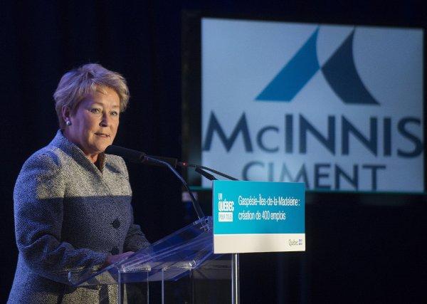 La première ministre Pauline Marois, lors de l'annonce... (Photo Graham Hughes, La Presse Canadienne)