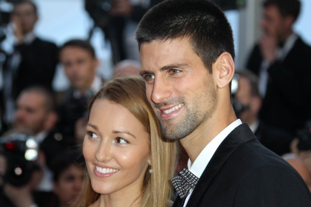 Novak Djokovic et Jelena Ristic au Festival de... (Photo: AFP)