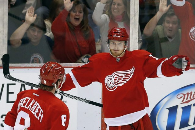 Gustav Nyquist (à droite).... (Photo: AP)