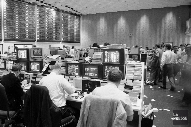 La Bourse de Montréal en 1987.... (PHOTO PIERRE MCCANN, ARCHIVES LA PRESSE)