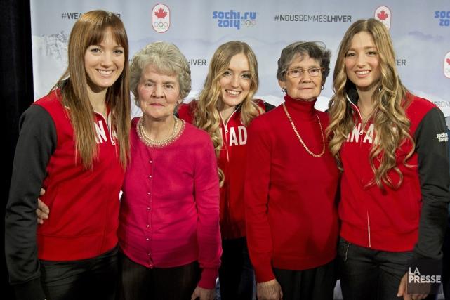 Pendant les Jeux de Sotchi, les soeurs Dufour-Lapointe... (Photo Robert Skinner, La Presse)