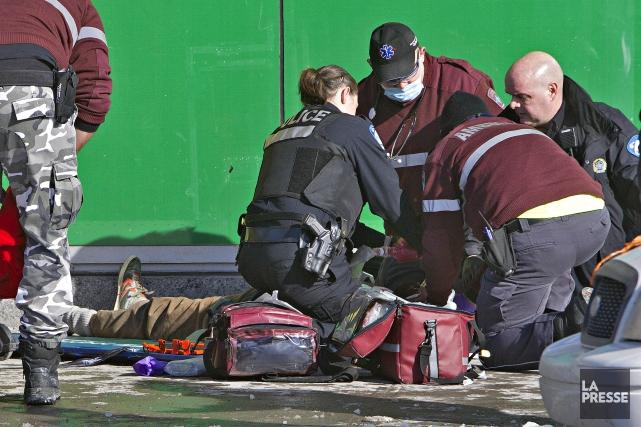 Alain Magloire a été abattu par des agents... (photo PATRICK SANFAÇON, La Presse)