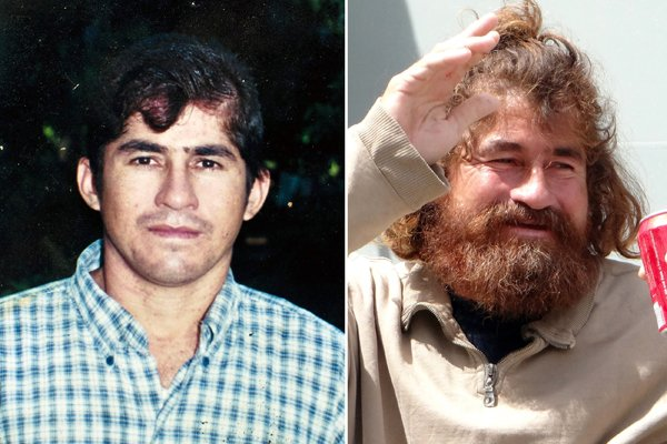 Sur la photo de gauche,José Salvador Alvarenga avant... (Photo AFP)