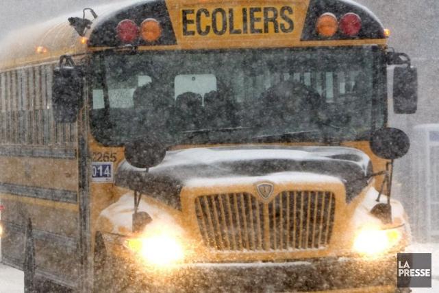 Alors que les grèves des chauffeurs d'autobus d'écoliers syndiqués chez les... (Photo: Robert Skinner, Archives La Presse)