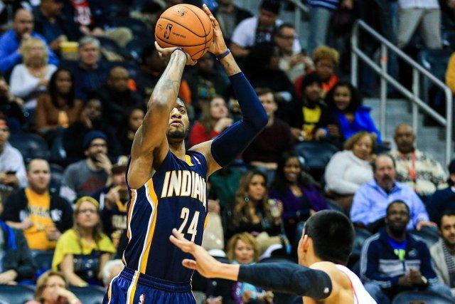Paul George a inscrit 18 points dans la... (Photo Daniel Shirey, USA Today)