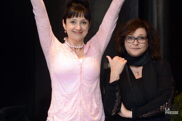 Violette Chauveau et Marie Charlebois forment un couple... (Photo Bernard Brault, La Presse)