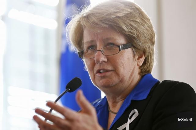 La ministre du Travail, Agnès Maltais... (Photothèque Le Soleil, Yan Doublet)