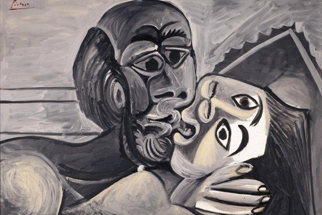 Le Baiser de Pablo Picasso, 1969.... (IMAGE ARCHIVES BLOOMBERG NEWS)