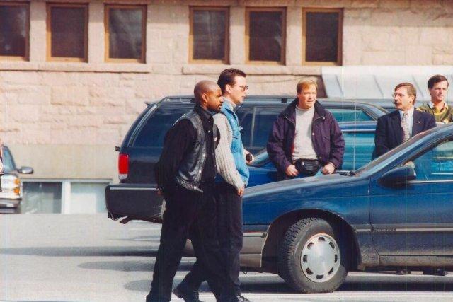 Photo de Benoit Roberge (au centre, manteau bleu...
