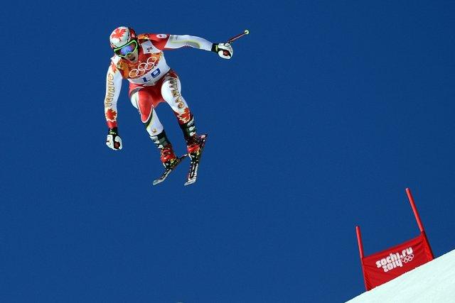 La première descente d'entraînement a rassuré Erik Guay,... (Photo Olivier Morin, AFP)