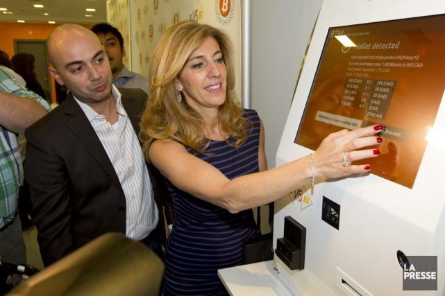 L'appareil a été installé dans l'«Ambassade Bitcoin», un... (Photo Alain Roberge, La Presse)