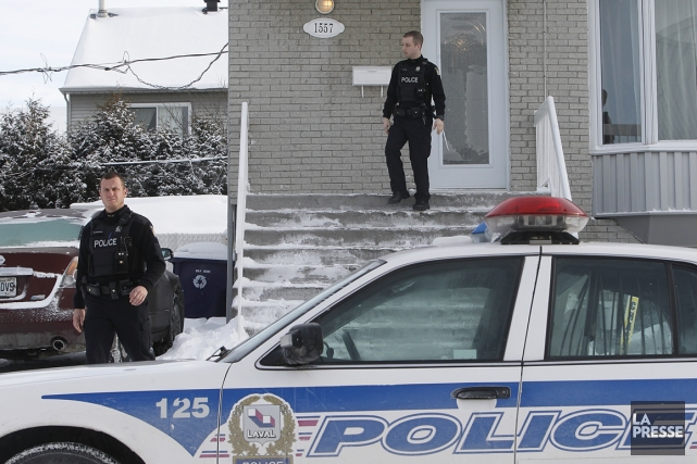 La police de Laval a démantelé ce matin un petit réseau de vente de cocaïne... (Photo Patrick Sanfaçon, La Presse)