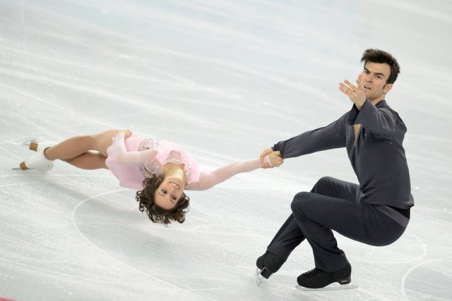Les Canadiens Meagan Duhamel et Eric Radford ont... (Photo Jung Yeon-Je, AFP)