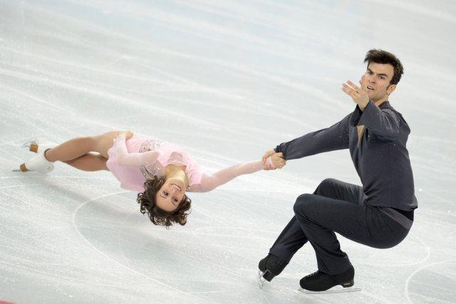 Les Canadiens Meagan Duhamel et Eric Radford ont... (Photo Jung Yeon-Je, AFP)