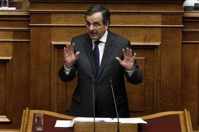 Le premier ministre grec, Antonis Samaras.... (Photo Yorgos Karahalis, Archives Reuters)