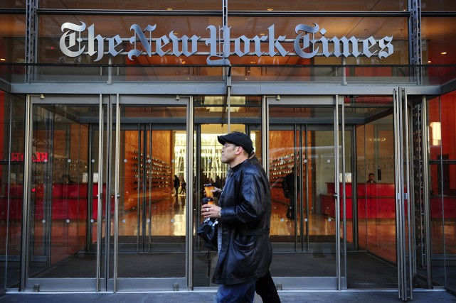 La New York Times Company a réalisé un... (Photo Emmanuel Dunand, archives AFP)
