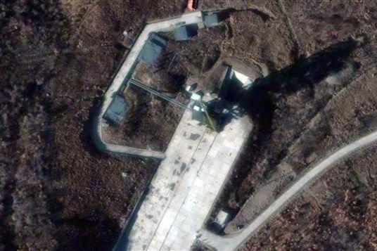 Image satellite du site de lancement Sohae en... (Photo AFP)