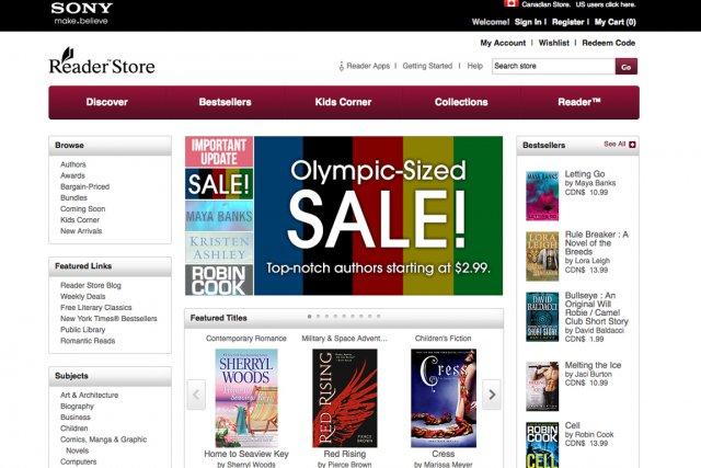 Le géant japonais de l'électronique Sony s'apprête fermer sa librairie de... (Capture d'écran du site Reader Store)