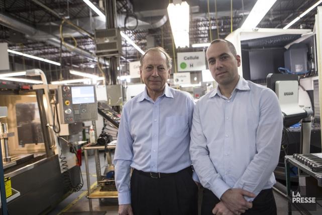 André Farkas, président et fondateur de Techniprodec, et... (Photo Olivier Pontbriand, La Presse)