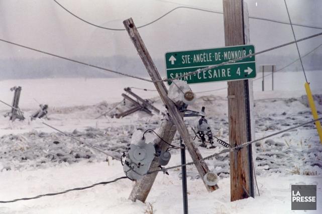 Seize ans après la crise du verglas, le... (Photo archives La Presse)