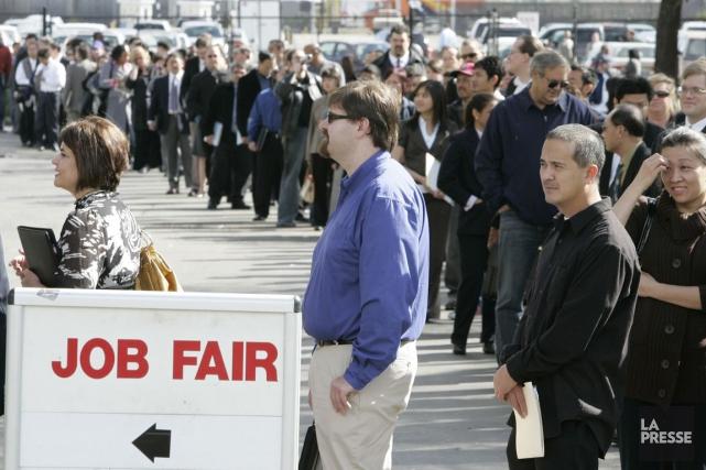 Les embauches dans le privé aux États-Unis ont... (PHOTO PAUL SAKUMA, ARCHIVES AP)