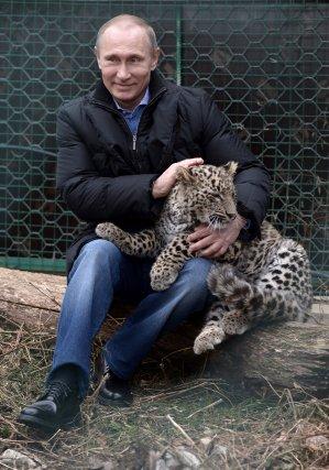 Le président de la Russie, Vladimir, et un... (Photo Associated Press)
