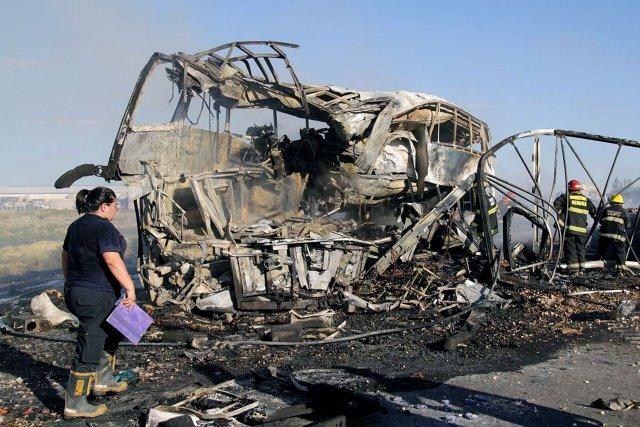 La collision frontale, qui a également fait une... (Photo Agence France-Presse)