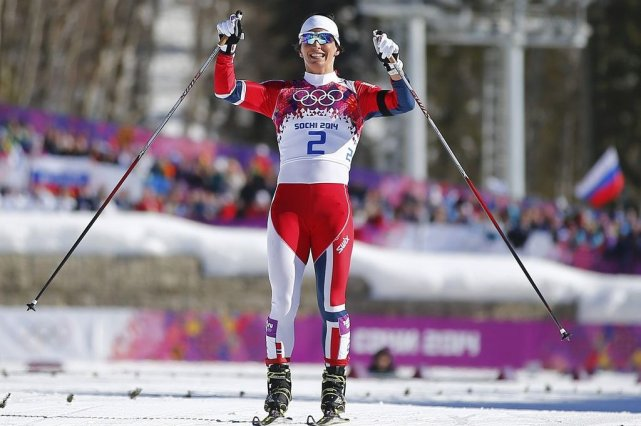 Marit Bjoergen avaitremporté trois médailles d'or à Vancouver,... (PHOTO CARLOS BARRIA, REUTERS)