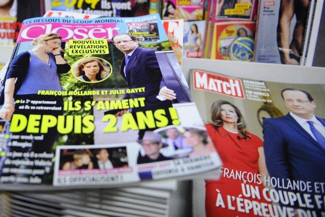 Les aventures extraconjugales du président François Hollande ont... (Photo Zacharie Scheurer, Archives AP)