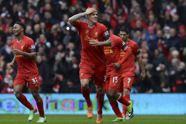Le défenseur Martin Skrtel a marqué deux buts... (Photo Andrew Yates, AFP)