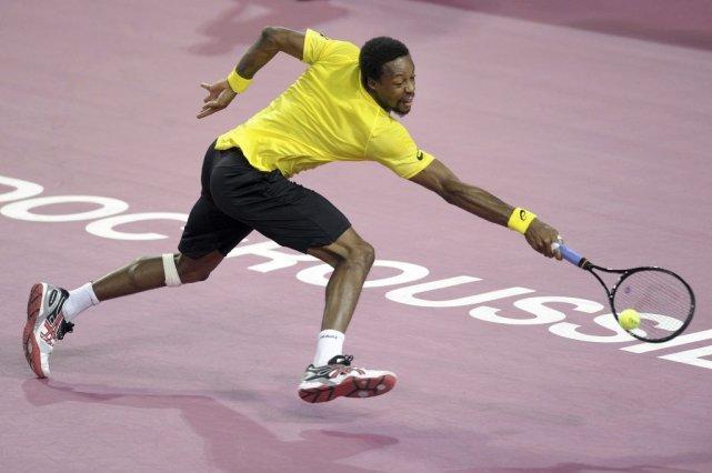Gaël Monfils a démarré très fort son match... (Photo Pascal Guyot, AFP)