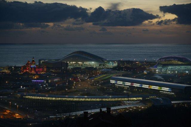 La station balnéaire, au bord de la mer... (Photo Mikhail Mordasov, AFP)