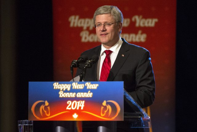 Le premier ministre Stephen Harper... (Photo Chris Young, La Presse Canadienne)