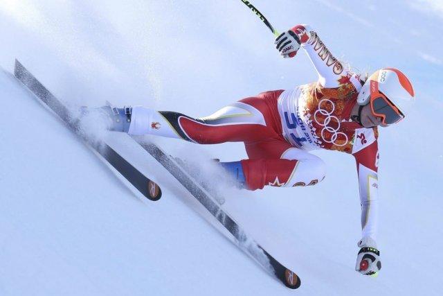 La Québécoise Marie-Michèle Gagnon pendant un entraînement, plus... (Photo Alessandro Trovati, archives AP)
