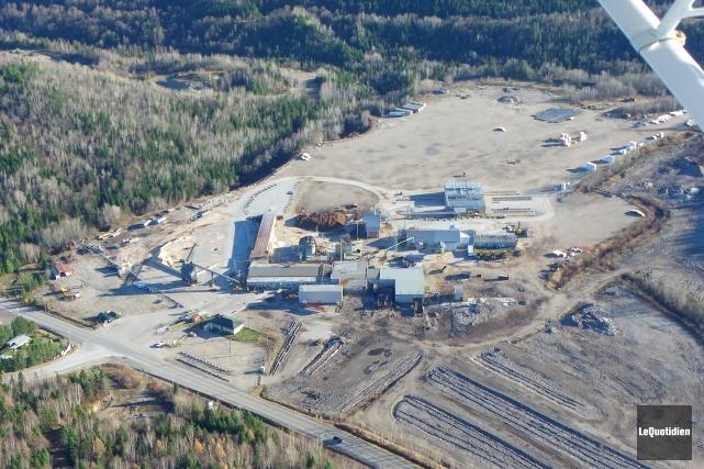Saint-Fulgence a acquis les terrains de la scierie,... ((Photo aérienne Le Quotidien))