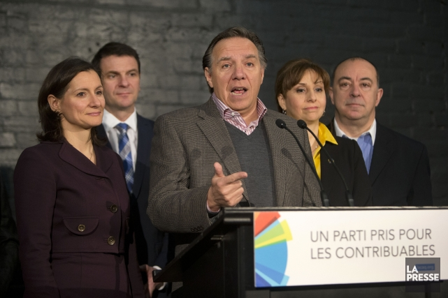 La Coalition Avenir Québec qui ne parvient pas... (Photo Robert Skinner, La Presse)
