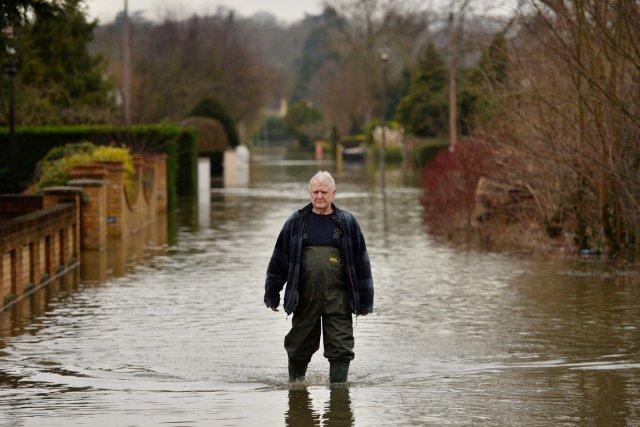 Au total, 16 alertes d'inondations ont été mises... (PHOTO BEN STANSALL, AFP)