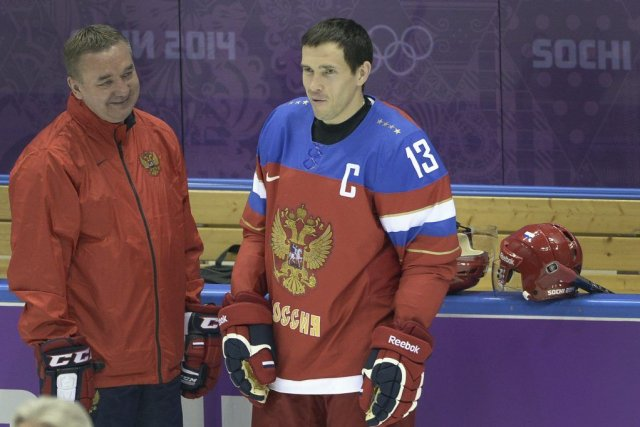 Le capitaine de l'équipe russe, Pavel Datsyuk, s'est... (PHOTO ALEXANDER NEMENOV, AFP)