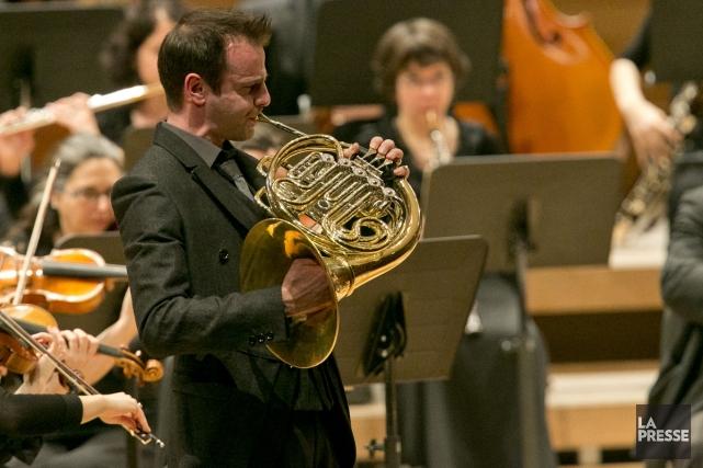 Le corniste Louis-Philippe Marsolais, passé de l'OM à... (Photo: Hugo-Sébastien Aubert, La Presse)