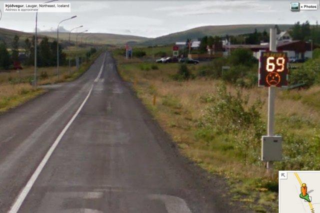 Une voiture qui prenait des vues des routes d'Islande pour Google Maps s'est... (IMAGE TIRÉE DE MAPS.GOOGLE.CA)