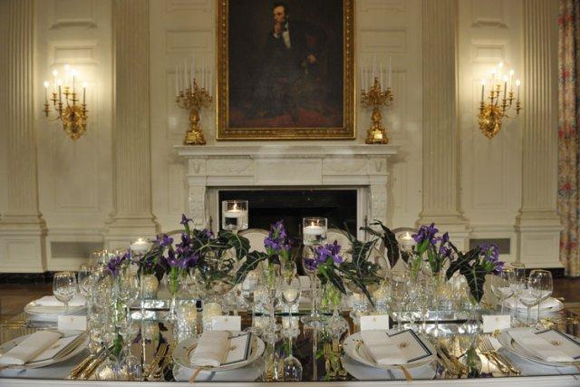 Un parfum marqué d'Amérique, avec des légumes du jardin de Michelle Obama, des... (Photo: AFP)