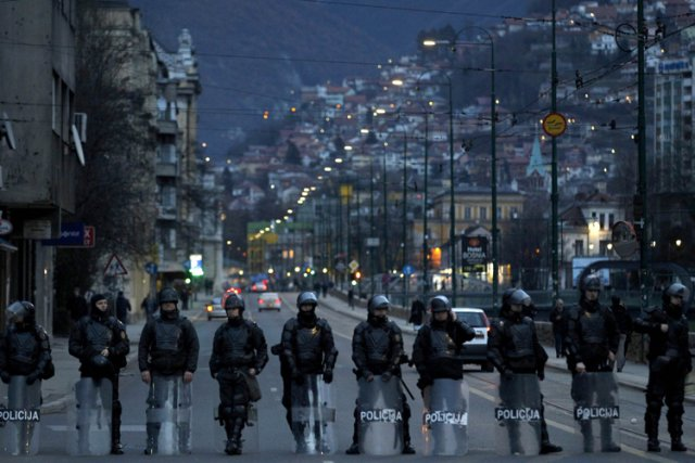 Les forces spéciales bosniaques étaient sur le pied... (Photo: Reuters)