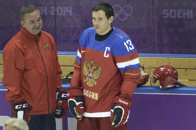 Pavel Datsyuk (à droite)... (Photo Alexander Nemenov, Agence France-Presse)