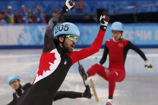 Charles Hamelin a dominé le 1500 mètres, hier,... (Photo David Gray, Reuters)