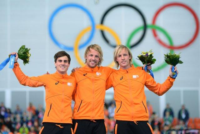 Jan Smeekens, Michel Mulder et Ronald Mulder ont... (Photo Jung Yeon-Je, Agence France-Presse)