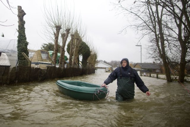 Toute une partie du sud-ouest de l'Angleterre est... (Photo USTIN TALLIS, AFP)
