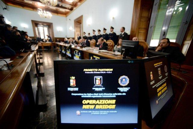 Coordonnée par le procureur de Reggio de Calabre... (PHOTO FILIPPO MONTEFORTE, AFP)