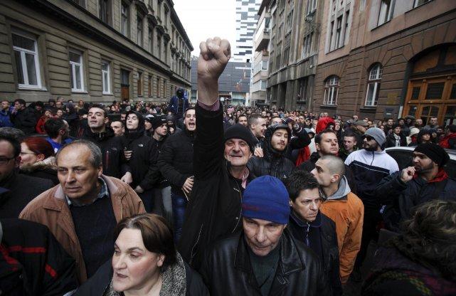 Depuis le début de ces manifestations mercredi dernier... (Photo ANTONIO BRONIC, Reuters)