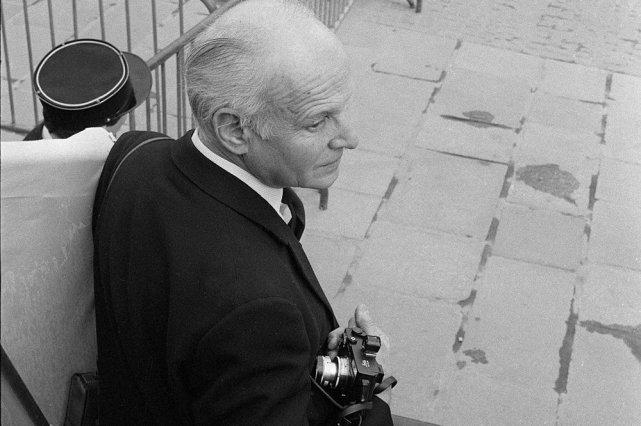 Le photographe Henri Cartier-Bresson en avril 1974.... (Photo: archives AFP)