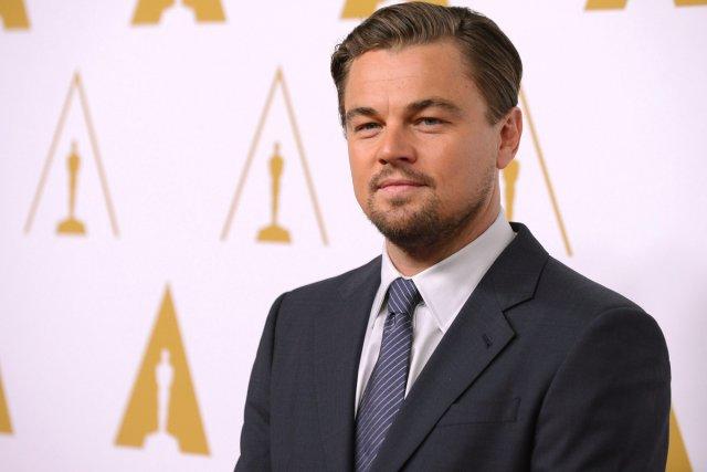 Leonardo DiCaprio lors du traditionnel déjeuner des nommés... (Photo: AP)